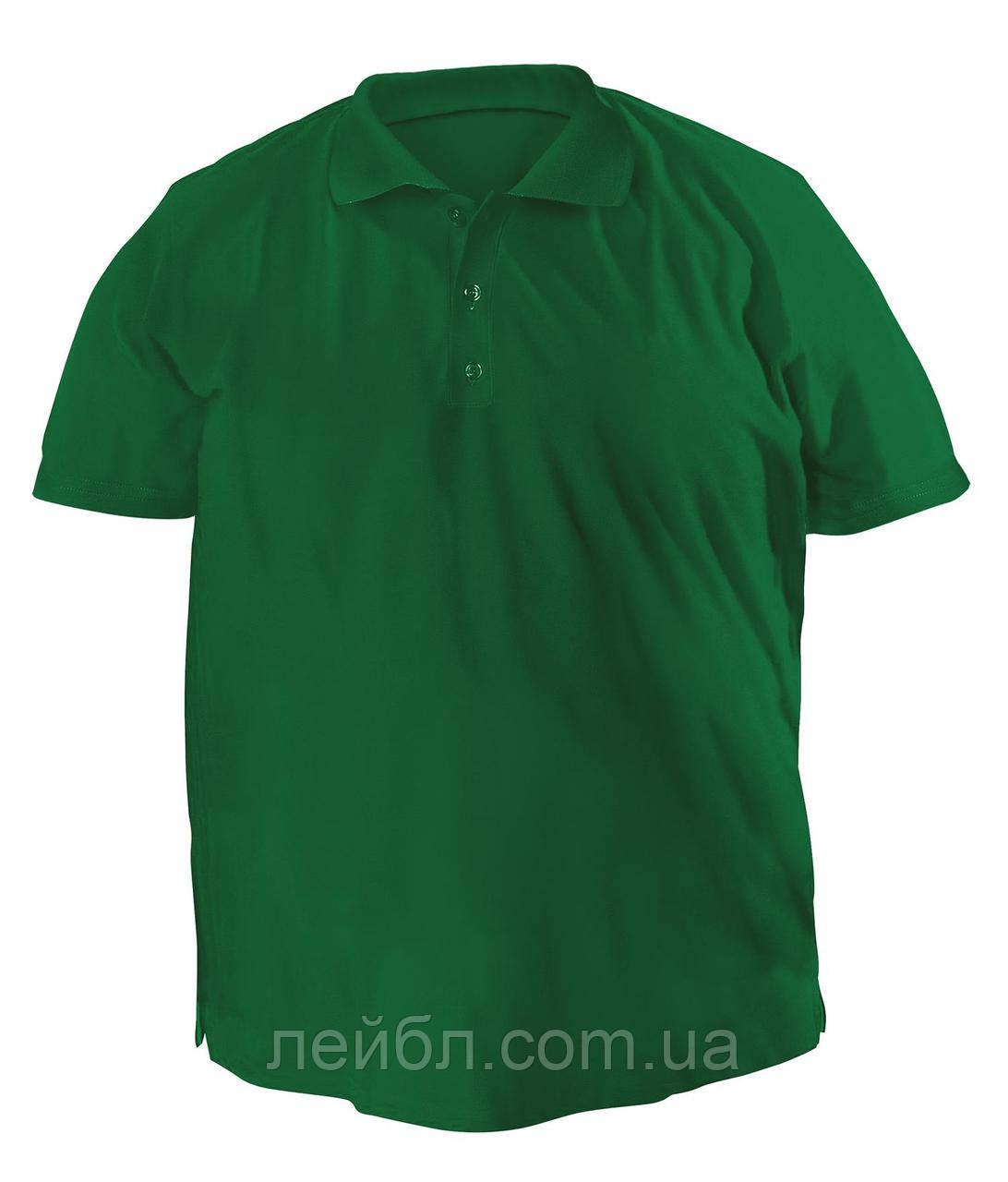 Футболку Polo большая - 7056 темно-зеленый