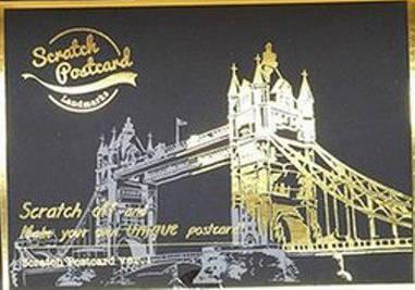 Набір 4-х скретч-листівок Лондон