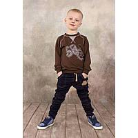 Брюки для мальчика джинсового типа Синие  104 Модный карапуз (03-00572)