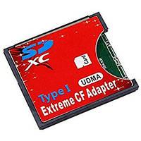 Адаптер переходник флеш карт SDXC на CF Type I (узкий) Ultra Speed Canon 5D Mak III, Nikon D700, фото 1
