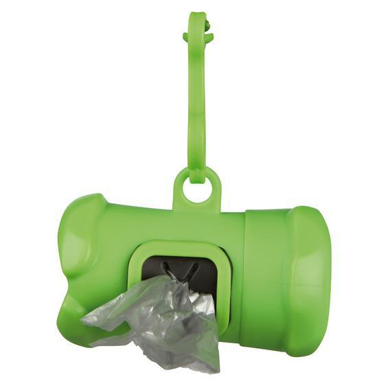 TRIXIE (Трикси) Сумка-брелок пластик с пакетами для фекалий +15 пакетов