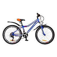 """Велосипед 24"""" FOREST Vbr рама-12,5"""" с крылом (2018)  Белый/синий Formula (OPS-FR-24-095)"""