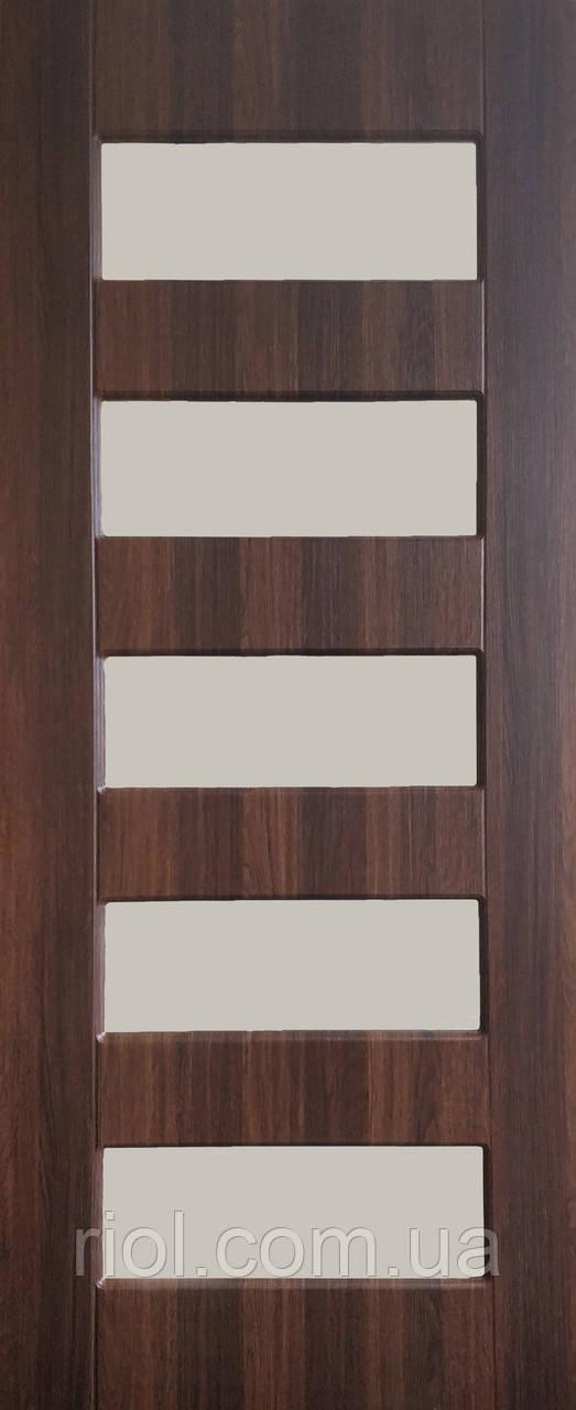 Дверь межкомнатная остекленная Марокко (Статус - коньяк)