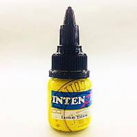 Тату пигмент Intenze Lemon Yellow USA объем на выбор, фото 1