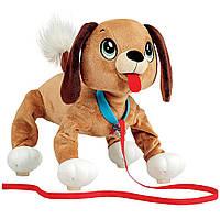Интерактивная игрушка Веселая прогулка  Бассет 28 см Peppy Pets (245277)
