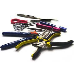 Отвертки, пинцеты, инструменты, приспособления для намотки, щетки