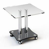 Стол стеклянный журнальный JTS 009 (Эскадо/Escado) 520х520х450мм  рисунок на двух столешницах