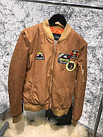 Мужская куртка Bomber Dsquared2 Aviator Puffed Brown, Копия