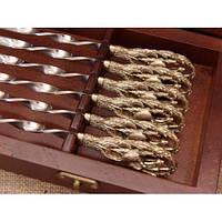 Набор шампуров - Соколиная Охота - в деревянном кейсе