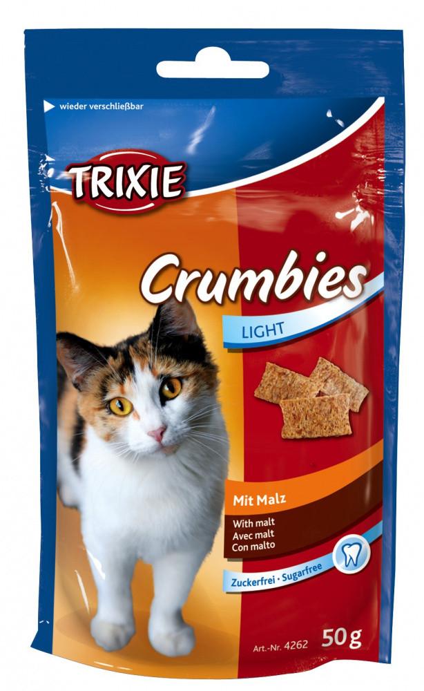 Лакомство Crumbies вывод шерсти для кошек 50 гр Trixie