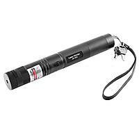 Фонарь-лазер зеленый JD-303, 1x18650, ЗУ 220V, ключ блокировки, ремешок на руку, комплект (лазерный луч)
