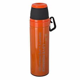 Термос Passion с карабином 550 мл. Оранжевый