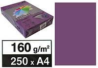 "Бумага цв.А4 160 Малин.темн. ""Spectra"" Raspberry 44A"