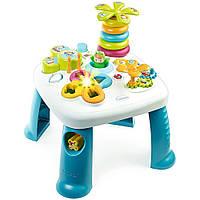 Детский игровой стол Cotoons Цветочек со звуковыми  и световыми эффектами Бело-синий Smoby (211169)
