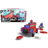Машинка-трансформер Оптимус Прайм 23 см,  стрельба дисками (свет, звук) Dickie Toys (311 6003)