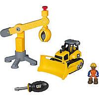 Игровой набор-конструктор Machine Maker Бульдозер  и Подъемный кран Toy State (80912)