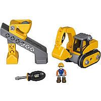 Игровой набор-конструктор Machine Maker Экскаватор  и Подъемник-конвейер Toy State (80913)