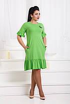 Д1272/2 Оригинальное платье с брошью размеры 46-56, фото 3