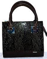 Женская каштановая каркасная сумка B Elit с лаковой перфорацией 31*28