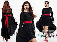 Элегантное платье с украшением (колье)