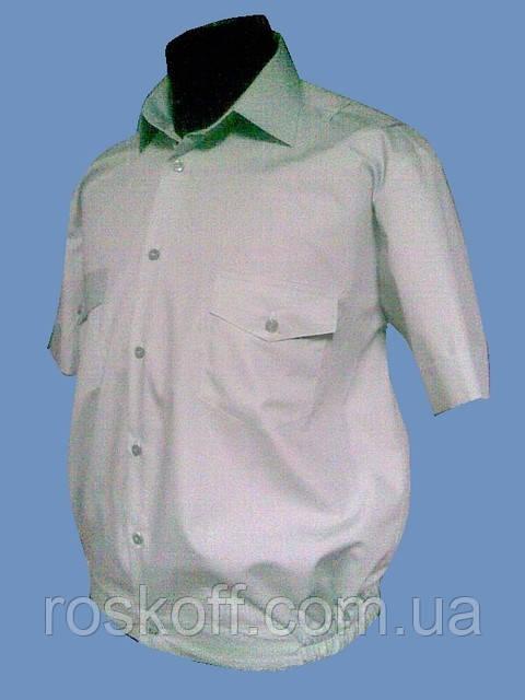 Форменная рубашка салатовая на короткий рукав