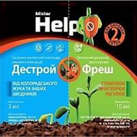 Инсектицид системно-контактный +стимулятор роста Дестрой (3мл)+Фреш (10мл) — против колорадского жука,плодожорки