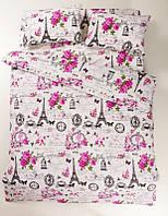 Постельное белье Lotus Ranforce Louvre розовое полуторного размера