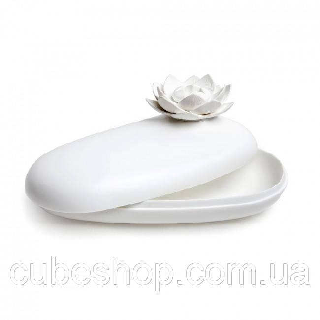 Шкатулка для украшений и аксессуаров Lotus Pebble Box Qualy (белый)