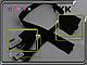 Молния трактор YKK чёрная 40см,50см,60см,70см,75см,80см DA 1бег. 580, фото 2