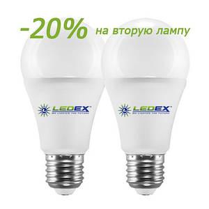 Лампа светодиодная LEDEX 12W, E27, 1140lm, 4000К ПРОМОПАК (2шт)