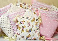 Нежно розовые бортики для девочки, фото 2