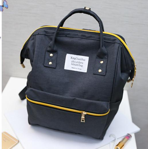 Женский рюкзак-сумка черный из ткани купить по выгодной цене в ... a485ea5eaa6