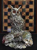 Статуэтка Сова на денежном дереве серебро 925 проба
