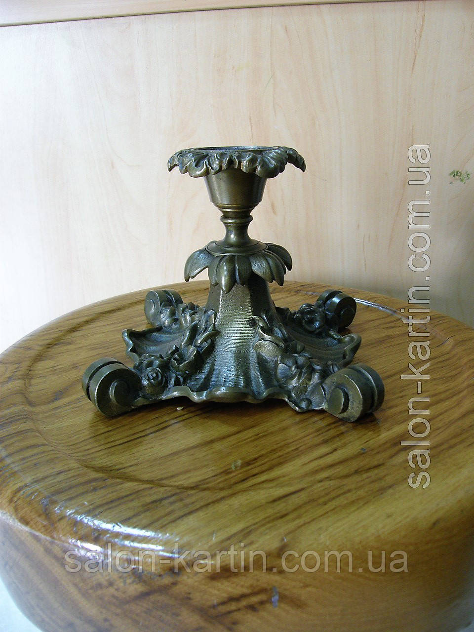 Старинный бронзовый подсвечник (Германия, 19 век)