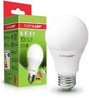 LED лампа EUROLAMP A60 10W яркий свет 220V E27
