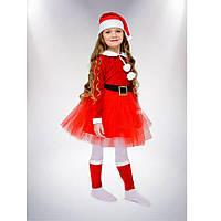 Карнавальный костюм Подружка Санта Клауса  110-116 см Сашка (НГ--0434-2)