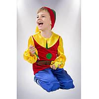 Карнавальный костюм Гном красный 122-128 см  Сашка (НГ-91-9234)