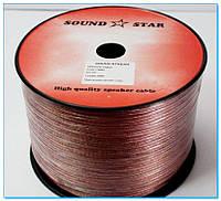 Кабель акустический (медь) 2*1,5кв. мм., прозрачно-розовый 100м