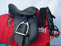 Седло для лошади универсальное 14 C - уздечка + вожжи + стремена