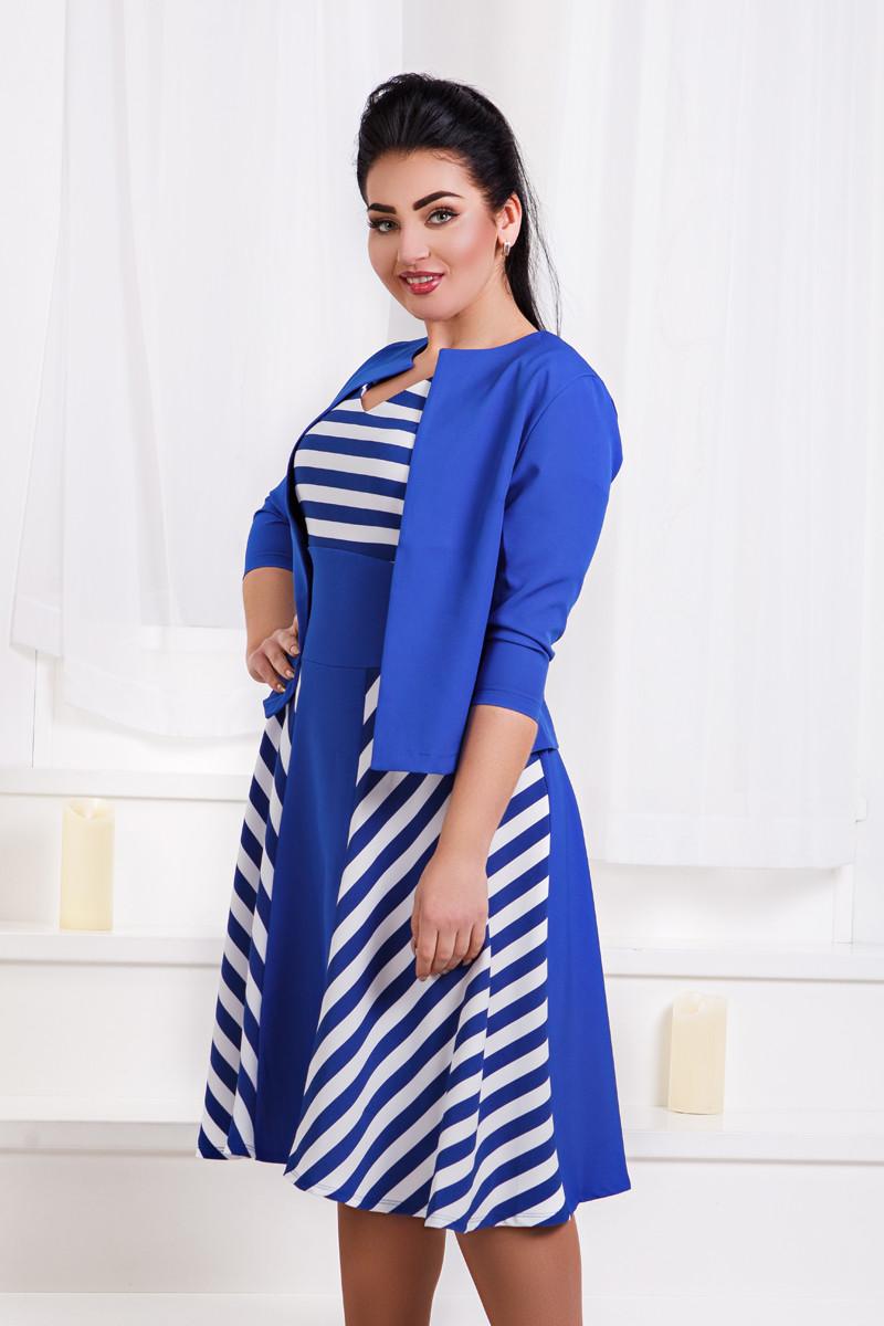 Д1283 Платье с жакетом размеры 50-56