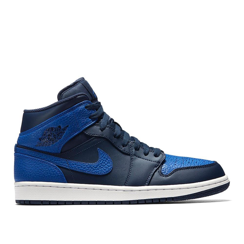 Оригинальные кроссовки Nike Air Jordan 1 Mid Dark Blue - Sport-Sneakers -  Оригинальные кроссовки b3601cc75a3