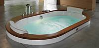 Гидромассажная ванна Jacuzzi Opalia Wood встроенная с смесителем (версия с отделкой из дерева)