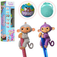 Обезьянка Fingerlings ЦЕНА ЗА 1шт, В УП. 4шт, 6см, шар 7см, (микс видов) в дисплее 28,5*7*7см(216шт)