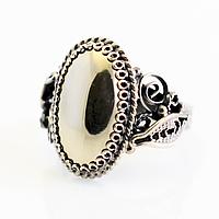 Пирит, нейзильбер филигрань, кольцо, 1056КЦП
