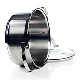 Кастрюля с крышкой Fissman LUMINOSA 2.1 л. (Нержавеющая сталь, стеклянная крышка), фото 4