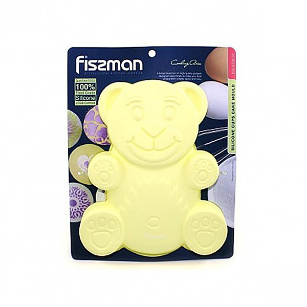 Форма для выпечки желтая Fissman Медвежонок
