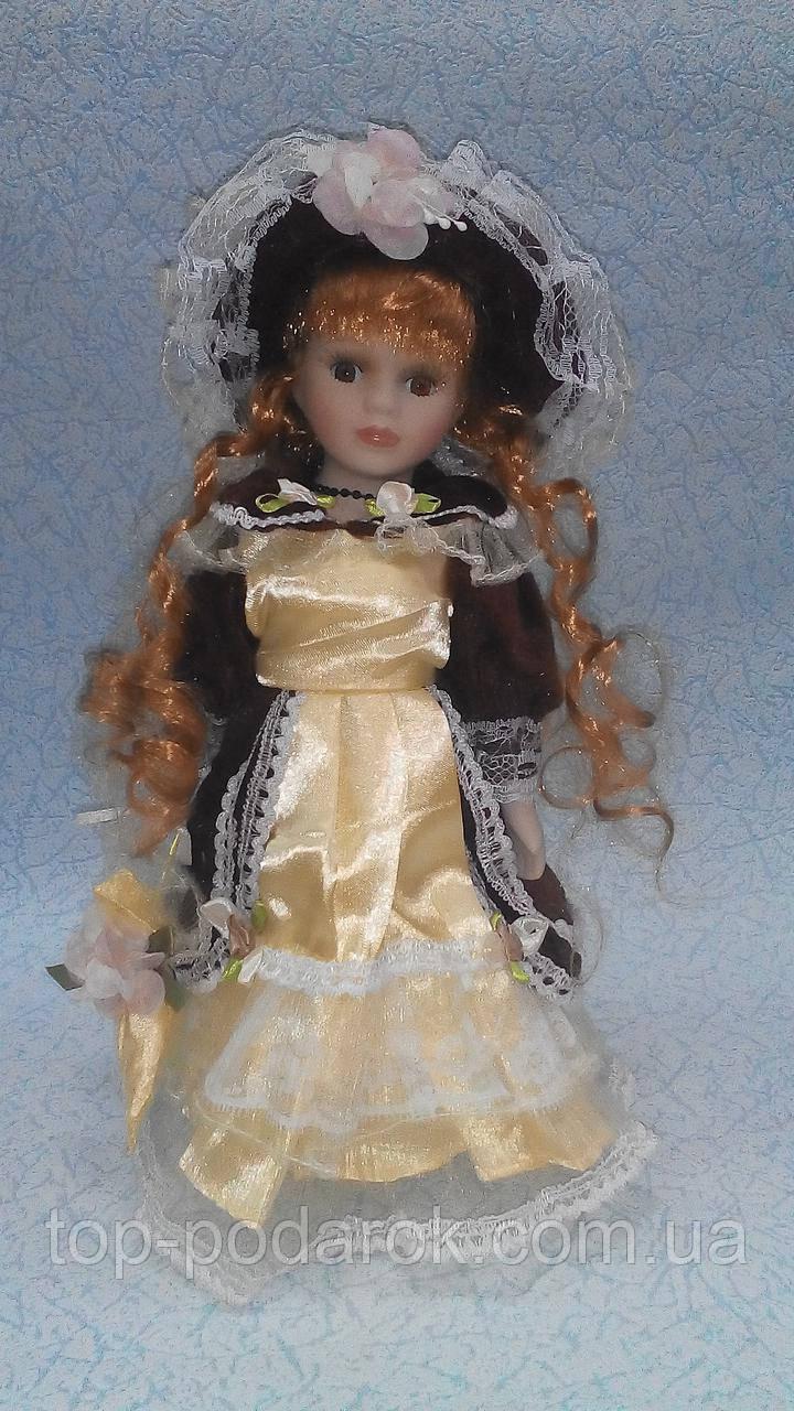 Кукла фарфоровая декоративная Эмма высота 30см