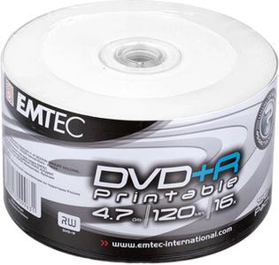 Диски DVD+R диски для відео, принтовые Emtec Рrintable Shrink 50