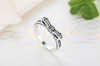 Серебряное кольцо PANDORA 100%-пандора (нежный бантик)КАЧЕСТВО!