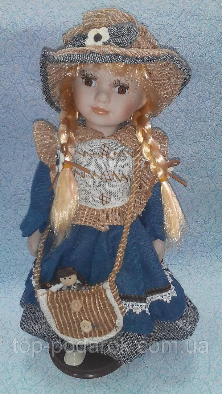 Кукла колекционная фарфоровая декоративная высота 42 см